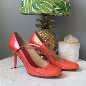 """Kate Spade Coral """"Katie"""" Patent Maryjanes, 8"""